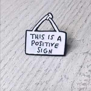 Positive Sign Enamel Pin/Brooch